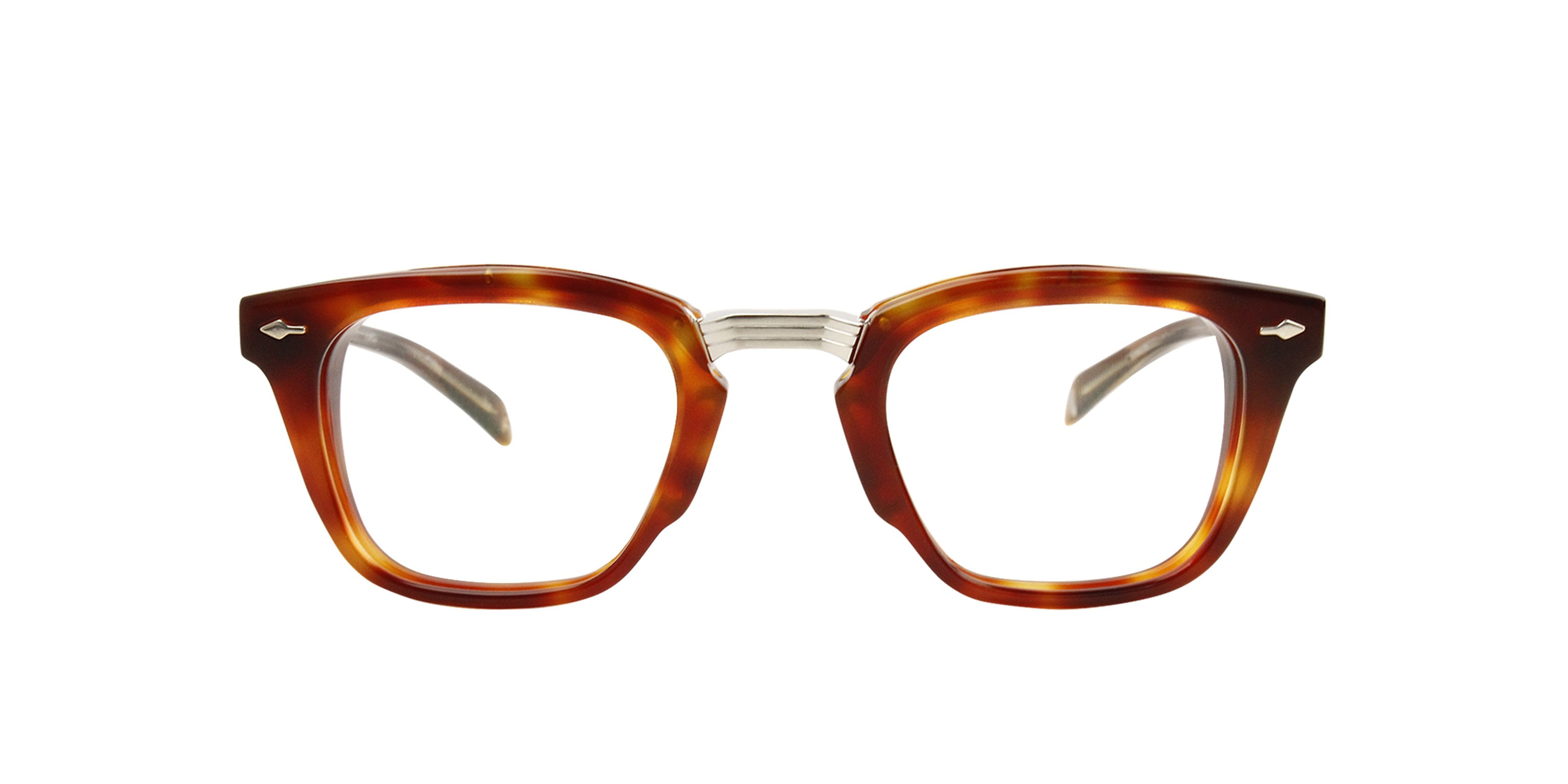 Jacques Marie Mage - Arcole Brown/Clear Rectangular Unisex Eyeglasses - 40mm-Eyeglasses-Designer Eyes