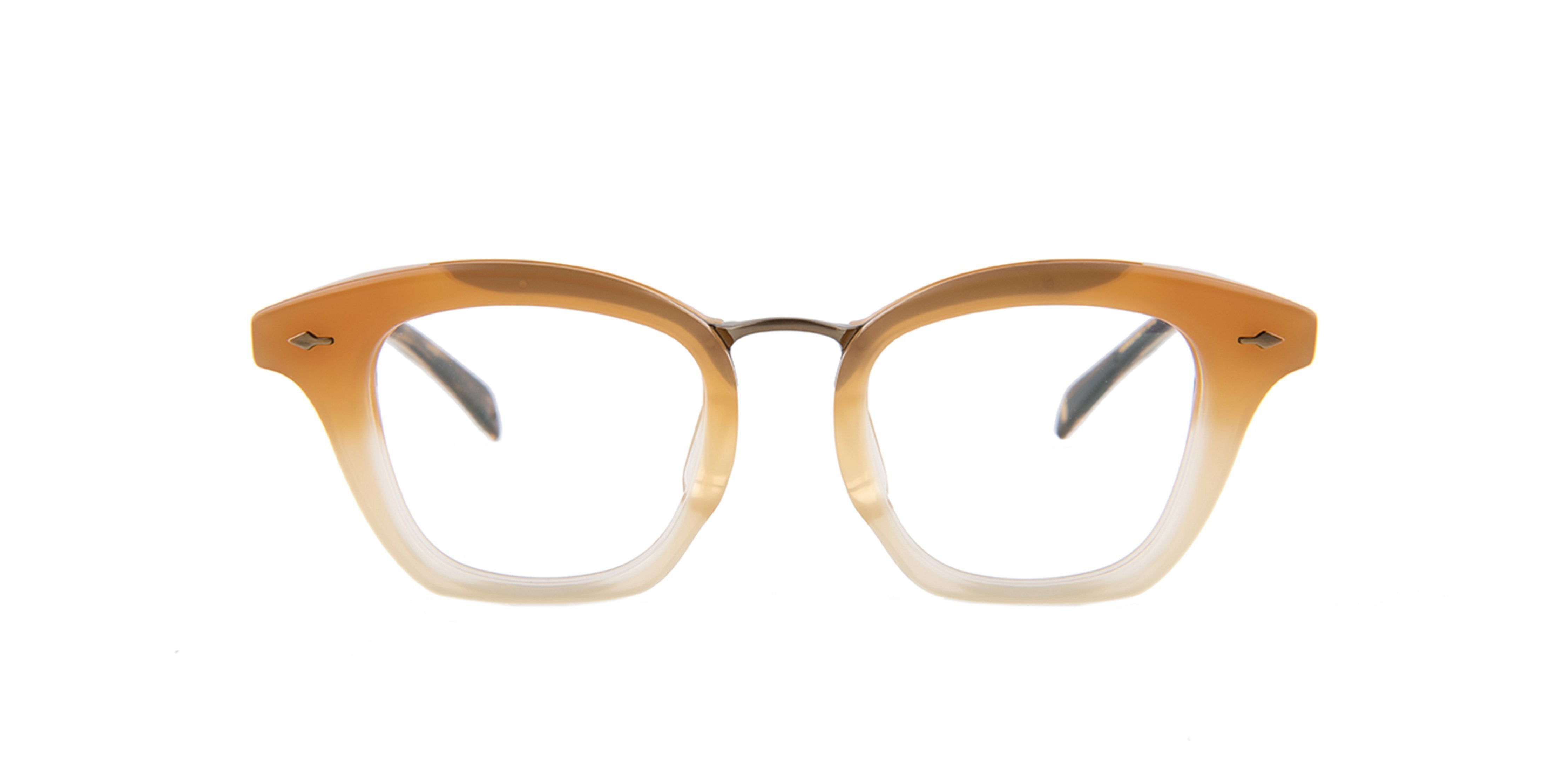 Jacques Marie Mage - Marisol Brown/Clear Square Women Eyeglasses - 46mm-Eyeglasses-Designer Eyes