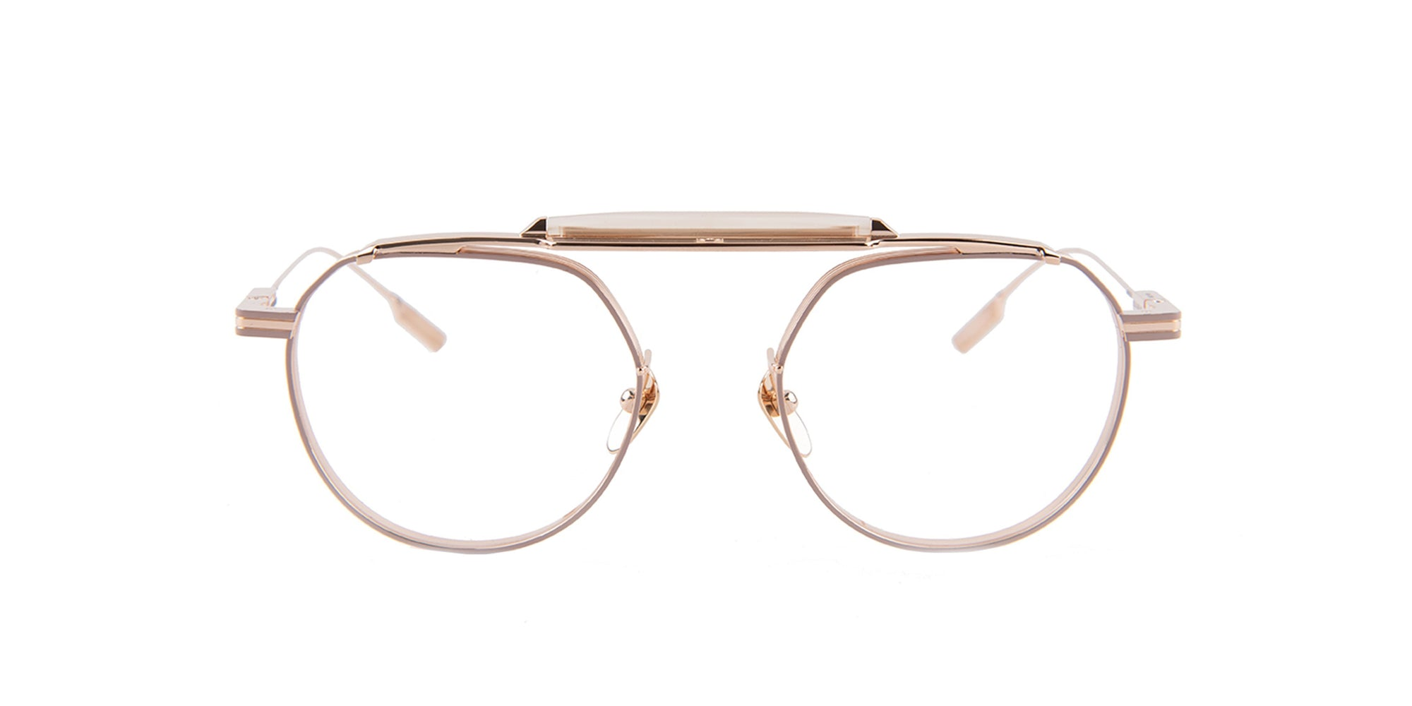 Jacques Marie Mage - Quanah Rose Gold/Rose Gold Oval Unisex Eyeglasses - 60mm-Eyeglasses-Designer Eyes