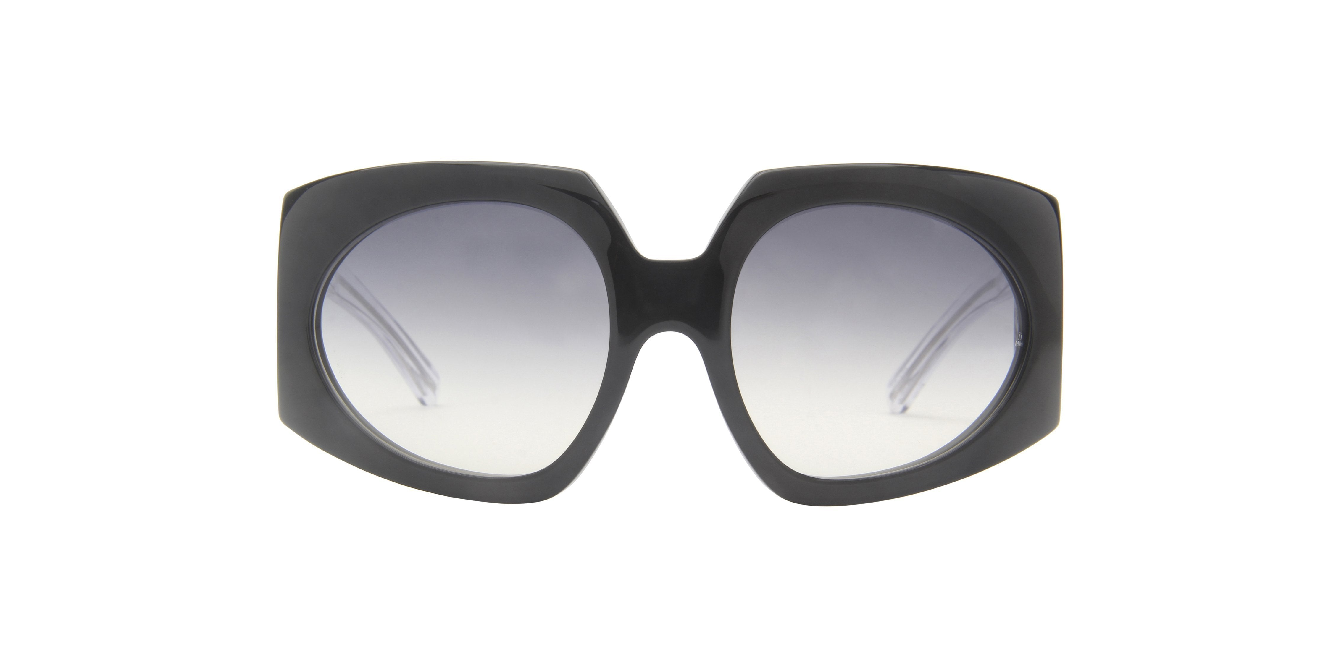 Jacques Marie Mage - Duval Black/Gray Gradient Oval Women Sunglasses - 60mm-Sunglasses-Designer Eyes