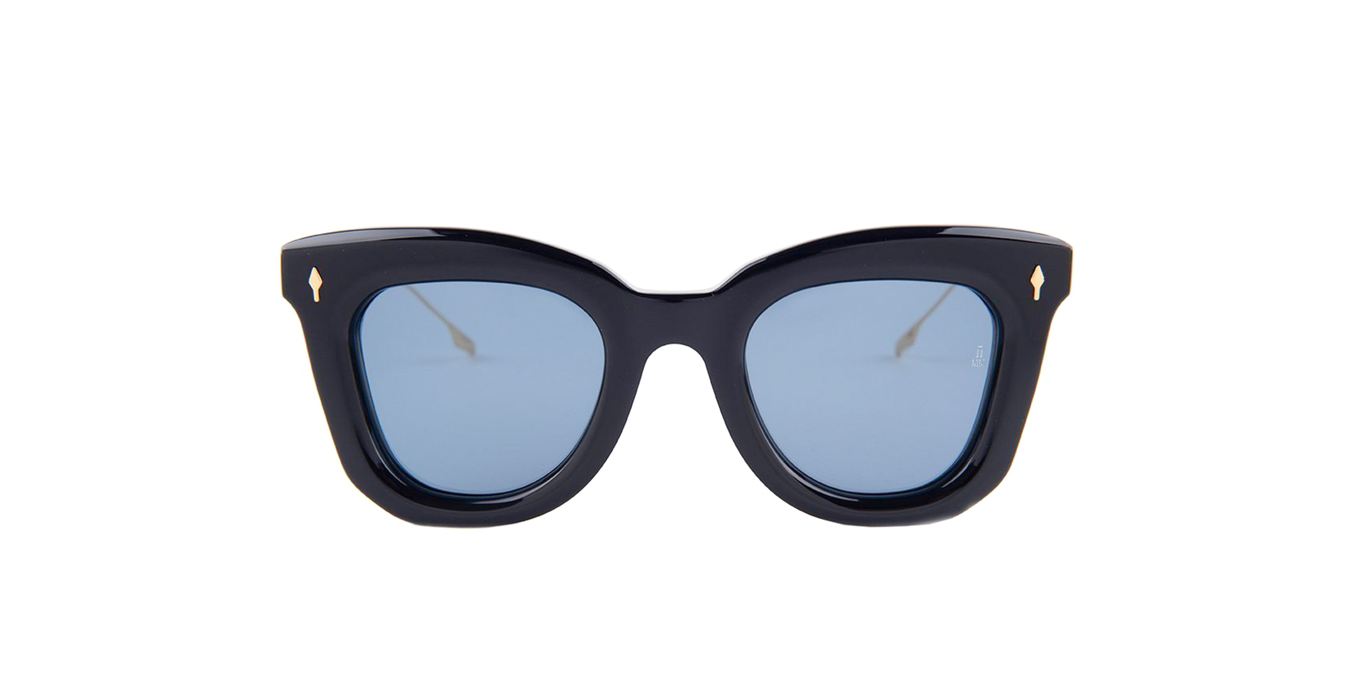 Jacques Marie Mage - Fascination Blue/Blue Rectangular Women Sunglasses - 46mm-Sunglasses-Designer Eyes