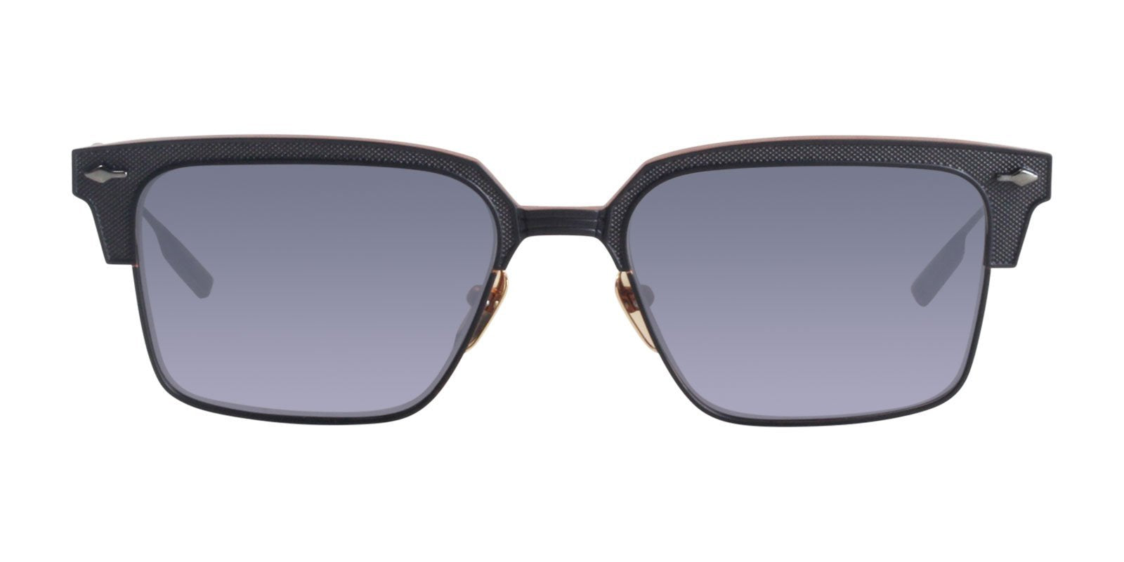 Jacques Marie Mage - Parker Black/Black Rectangular Unisex Sunglasses - 53mm-Sunglasses-Designer Eyes