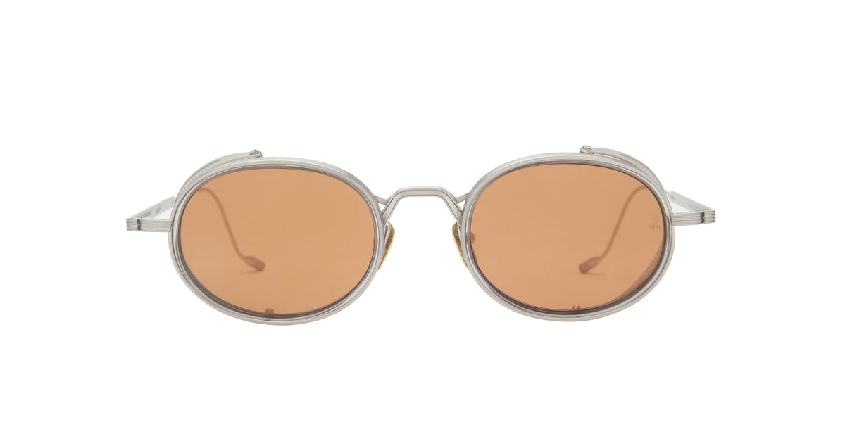 Jacques Marie Mage - Rex Gray/Bronze Oval Unisex Sunglasses - 50mm-Sunglasses-Designer Eyes