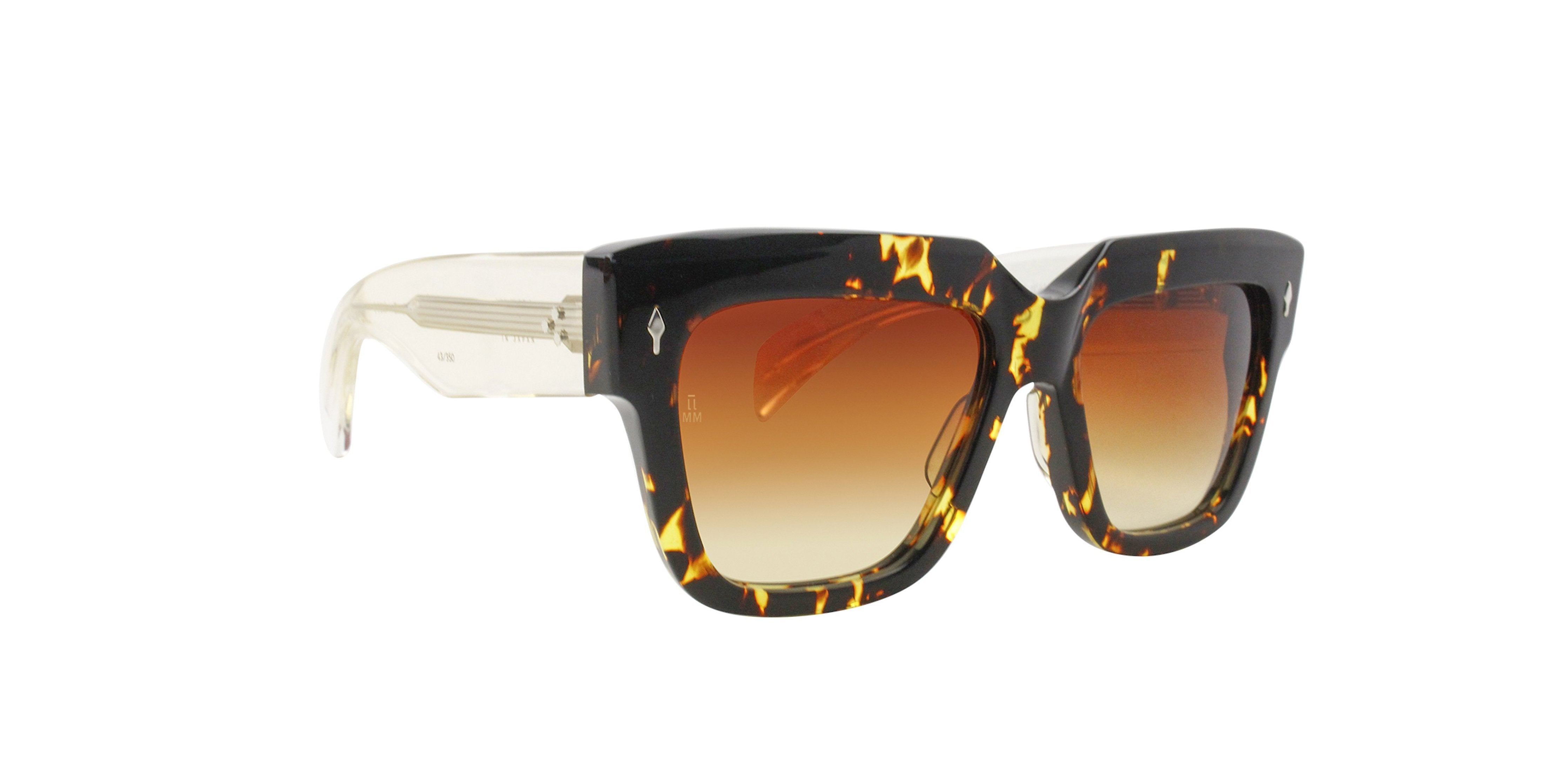 Jacques Marie Mage - Talitha Multicoloured/Brown Rectangular Unisex Sunglasses - 41mm-Sunglasses-Designer Eyes