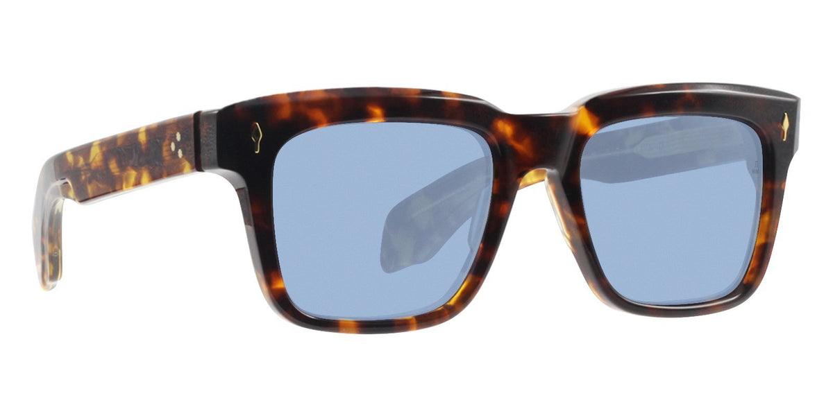 Jacques Marie Mage - Torino Tortoise/Blue Rectangular Men Sunglasses - 54mm-Sunglasses-Designer Eyes