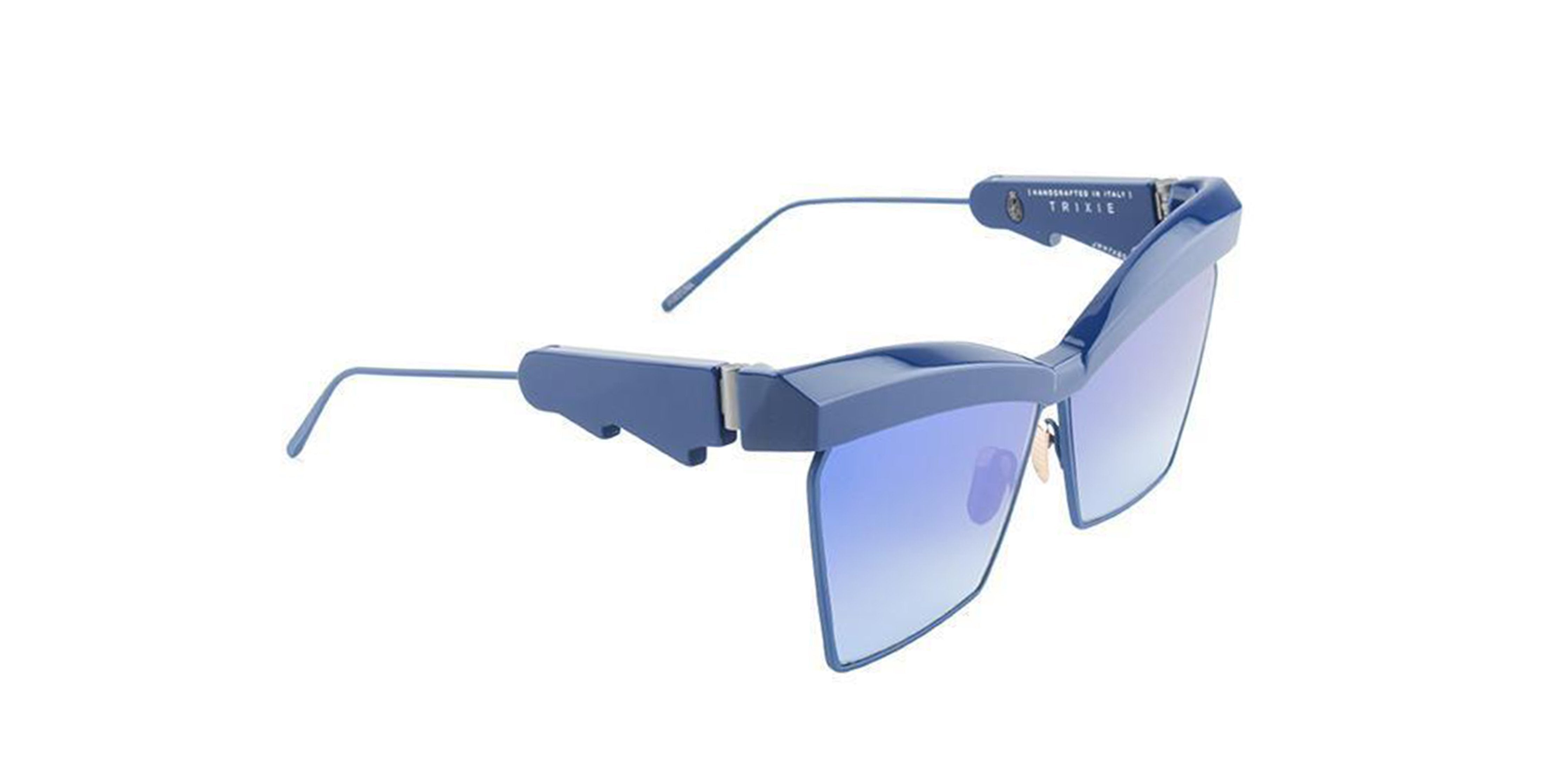 Jacques Marie Mage - Trixie Blue/Blue Mirror Butterfly Women Sunglasses - 61mm-Sunglasses-Designer Eyes