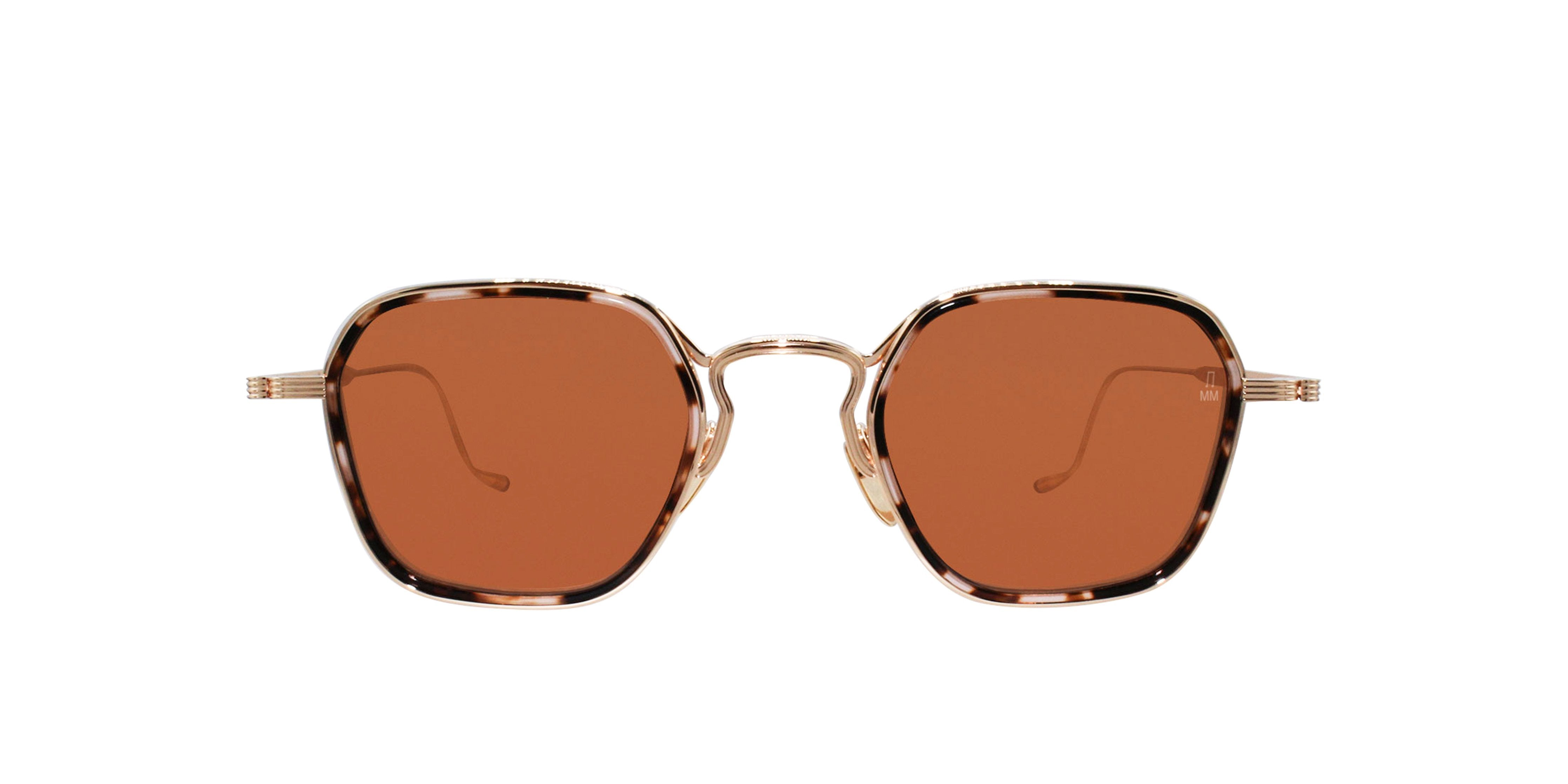 Jacques Marie Mage - Wyatt Gold/Pink Rectangular Unisex Sunglasses - 47mm-Sunglasses-Designer Eyes