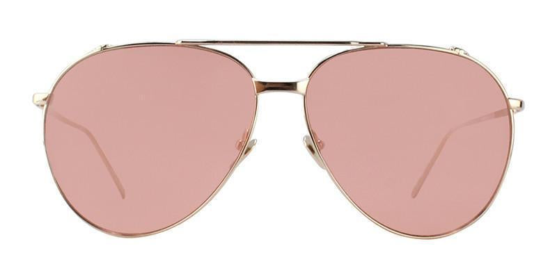Linda Farrow - LF425 Gold Aviator Women Sunglasses - 65mm-Sunglasses-Designer Eyes