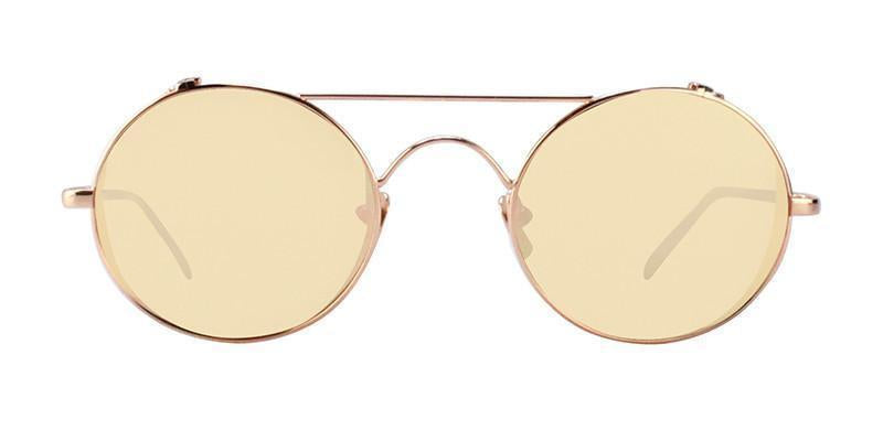 Linda Farrow - LF427 Rose Gold Oval Women Sunglasses - 51mm-Sunglasses-Designer Eyes