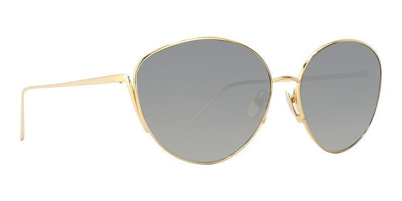 Linda Farrow - LF508 Gold Oval Women Sunglasses - 61mm-Sunglasses-Designer Eyes