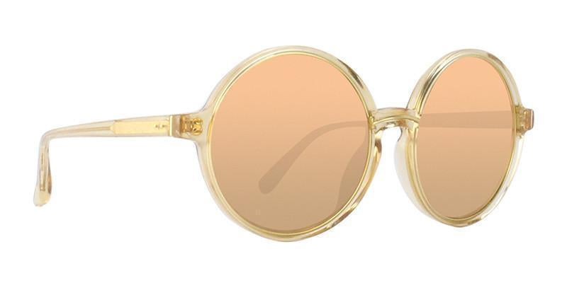 Linda Farrow - LF650 Gold Oval Women Sunglasses - 52mm-Sunglasses-Designer Eyes