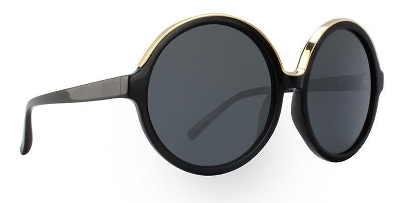 Linda Farrow - N21 Black Gold - Grey-Sunglasses-Designer Eyes