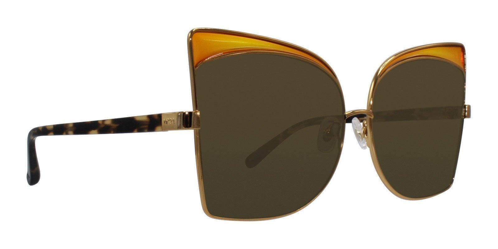 Linda Farrow - N21 Gold - Brown-sunglasses-Designer Eyes