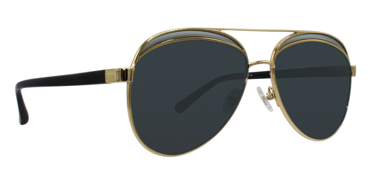 Linda Farrow - N21/6/1 Gold Aviator Women Sunglasses - 61mm-Sunglasses-Designer Eyes