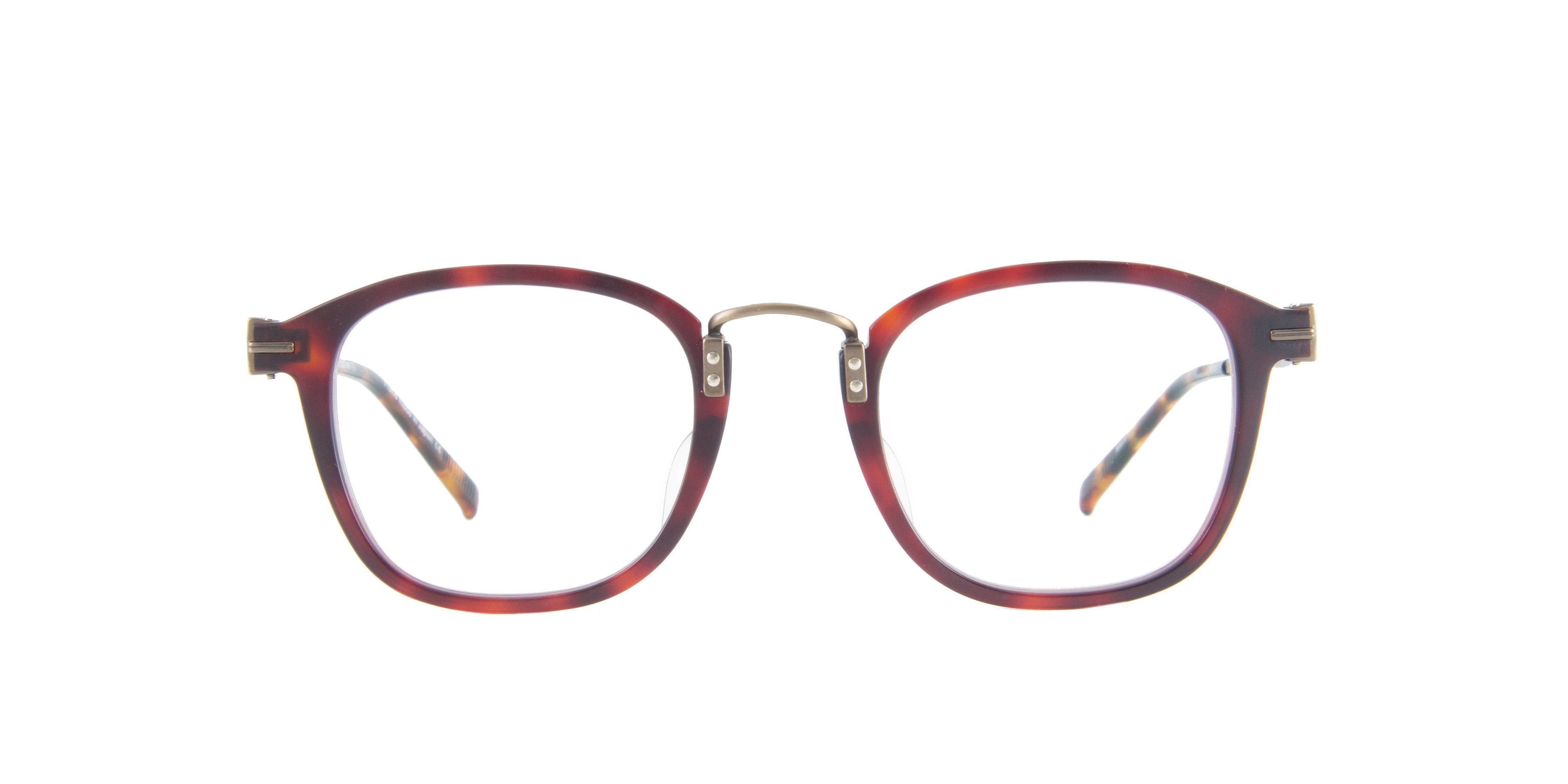 Matsuda - M2015 Tortoise/Clear Rectangular Unisex Eyeglasses - 47mm-Eyeglasses-Designer Eyes