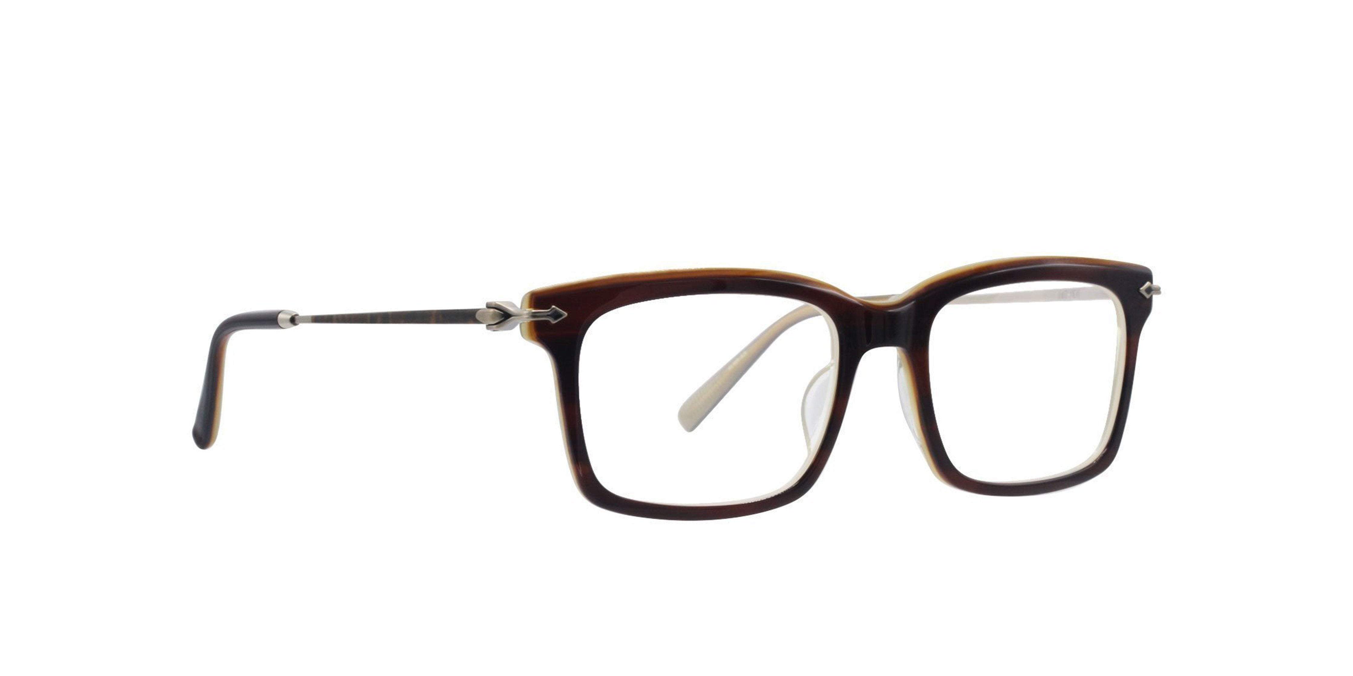 Matsuda - M2037 Brown/Clear Rectangular Women Eyeglasses - 53mm-Eyeglasses-Designer Eyes