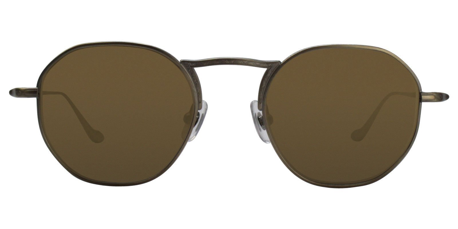 Matsuda - M3057 Gold/Gold Mirror Oval Unisex Sunglasses - 49mm-Sunglasses-Designer Eyes