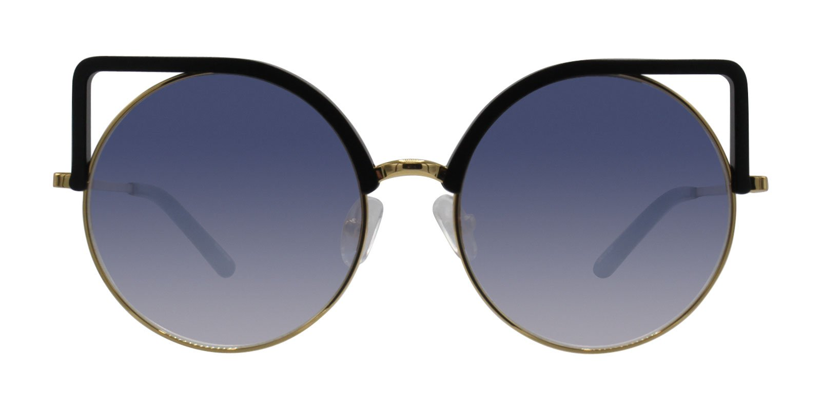 Matthew Williamson - MW169 Black Oval Women Sunglasses - 54mm-Sunglasses-Designer Eyes