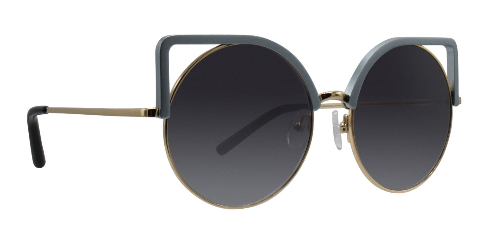 Matthew Williamson - MW169 Blue Oval Women Sunglasses - 54mm-Sunglasses-Designer Eyes