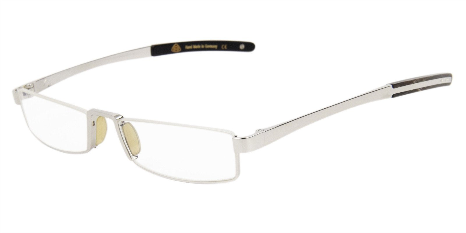 Maybach - The Director I Silver Rectangular Unisex Eyeglasses - 53mm-Eyeglasses-Designer Eyes