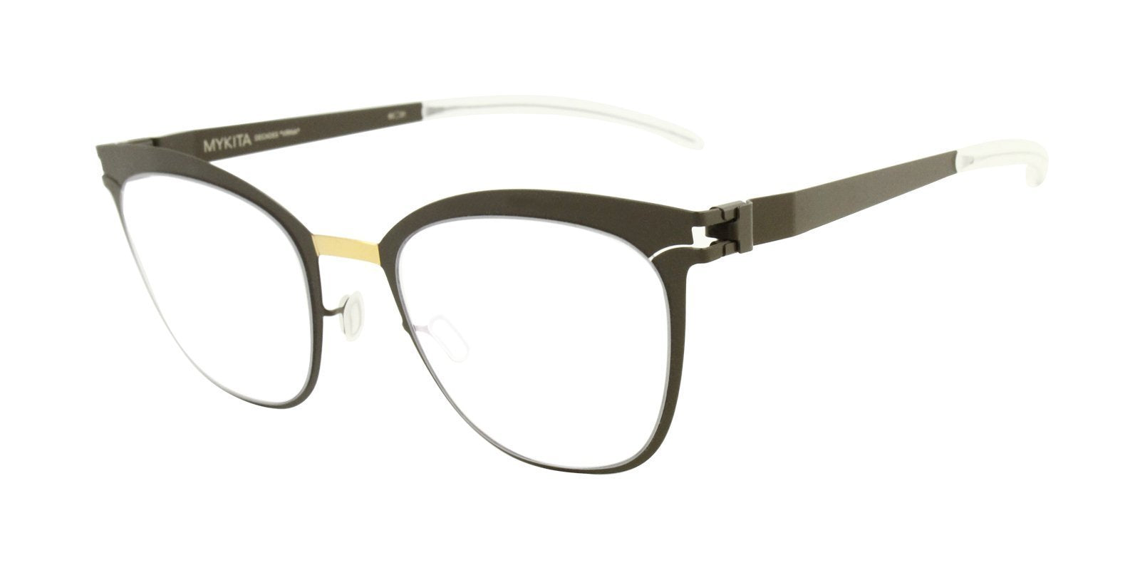 Mykita - Virna Brown Oval Women Eyeglasses - 50mm-Eyeglasses-Designer Eyes