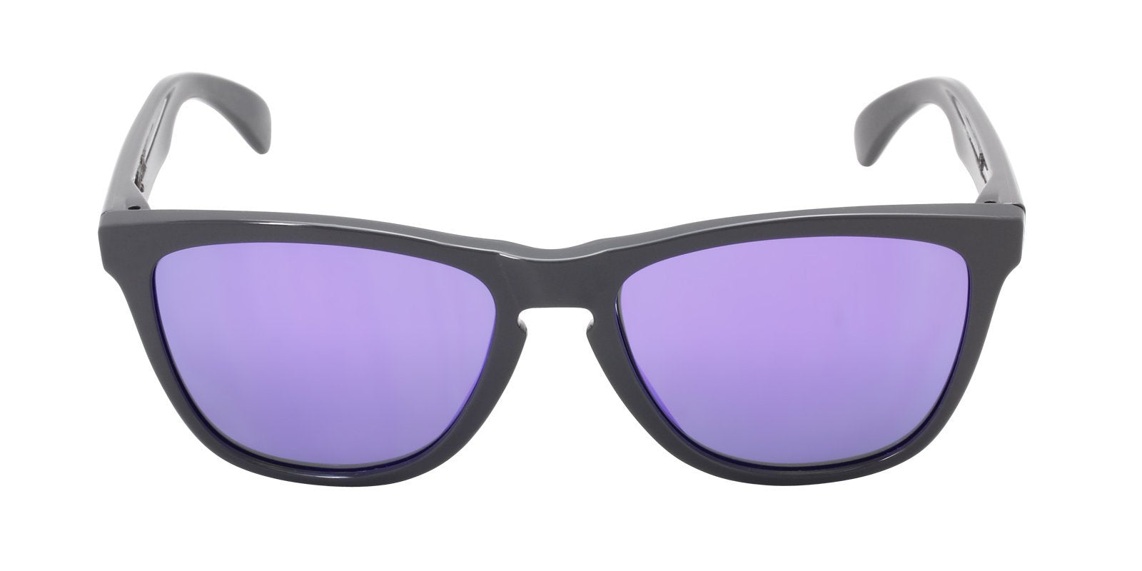 Oakley - Frogskins Gray/Purple Rectangular Women Sunglasses - 55mm-Sunglasses-Designer Eyes