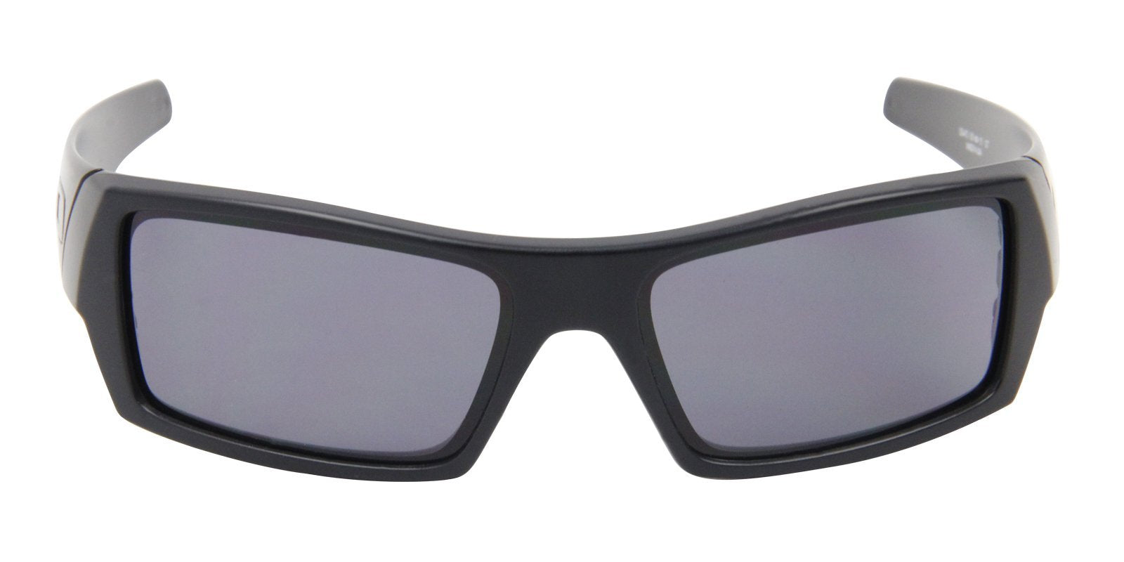 Oakley - Gascan Black/Gray Rectangular Men Sunglasses - 60mm-Sunglasses-Designer Eyes