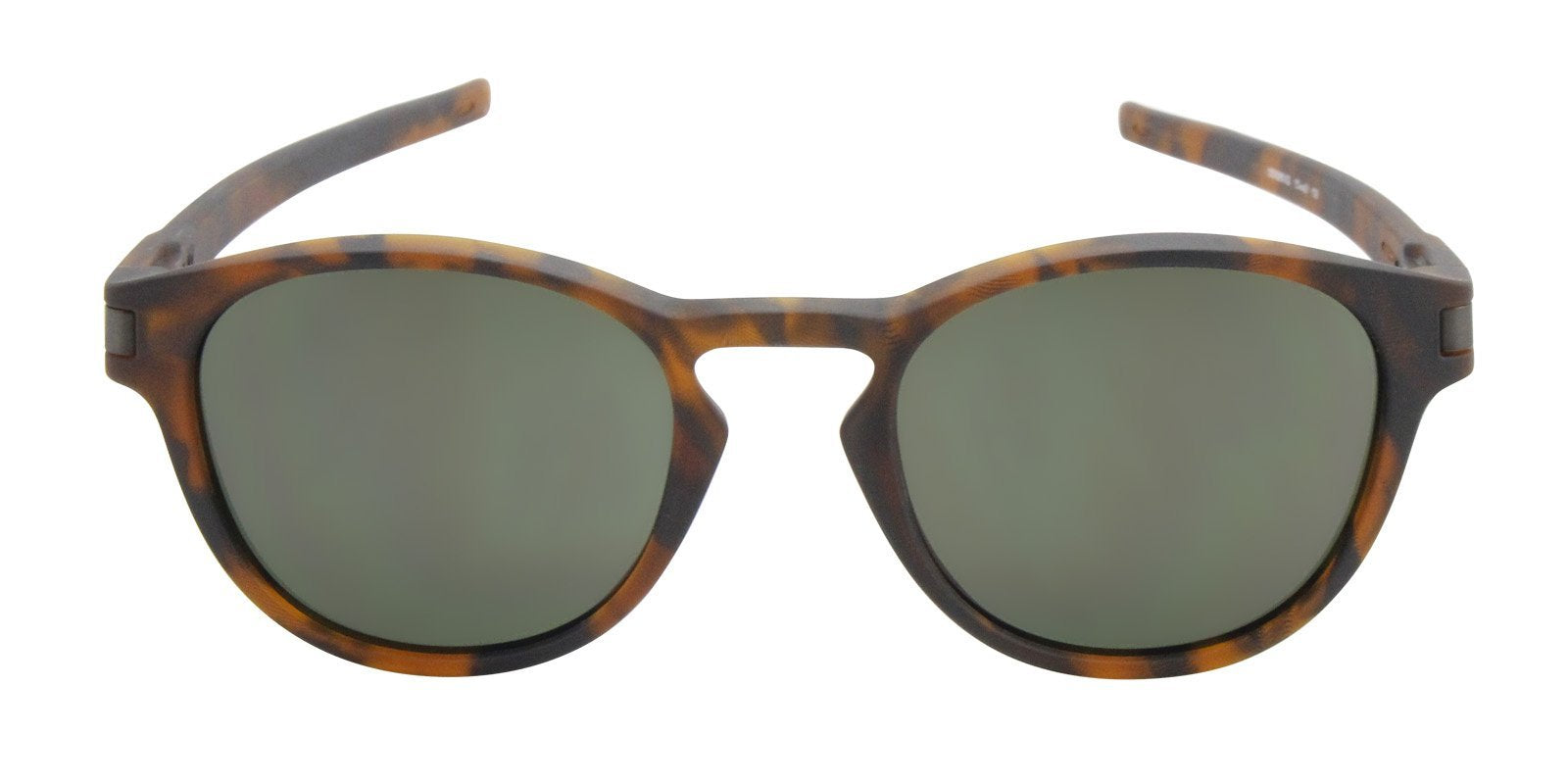 Oakley - Latch Tortoise/Green Oval Unisex Sunglasses - 53mm-Sunglasses-Designer Eyes