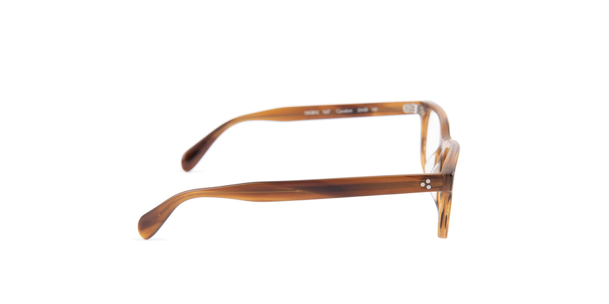 Oliver Peoples - Cavalon Brown Rectangular Unisex Eyeglasses - 53mm-Eyeglasses-Designer Eyes