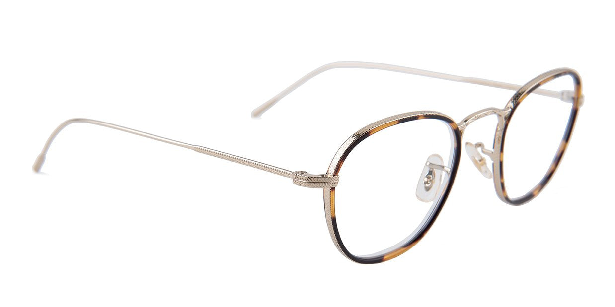 Oliver Peoples - Eoin Gold Oval Unisex Eyeglasses - 48mm-Eyeglasses-Designer Eyes
