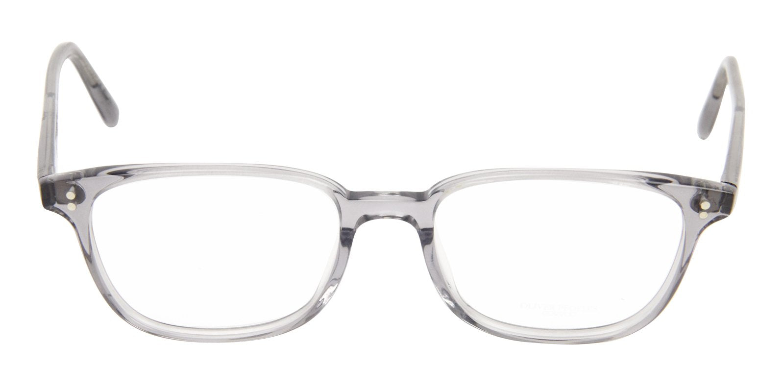 Oliver Peoples - Maslon Clear Rectangular Unisex Eyeglasses - 51mm-Eyeglasses-Designer Eyes