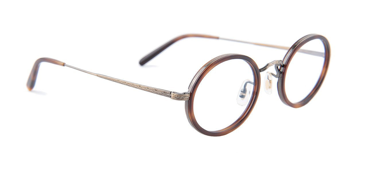 Oliver Peoples - MP-8 30th Antique Gold Tortoise Oval Unisex Eyeglasses - 46mm-Eyeglasses-Designer Eyes