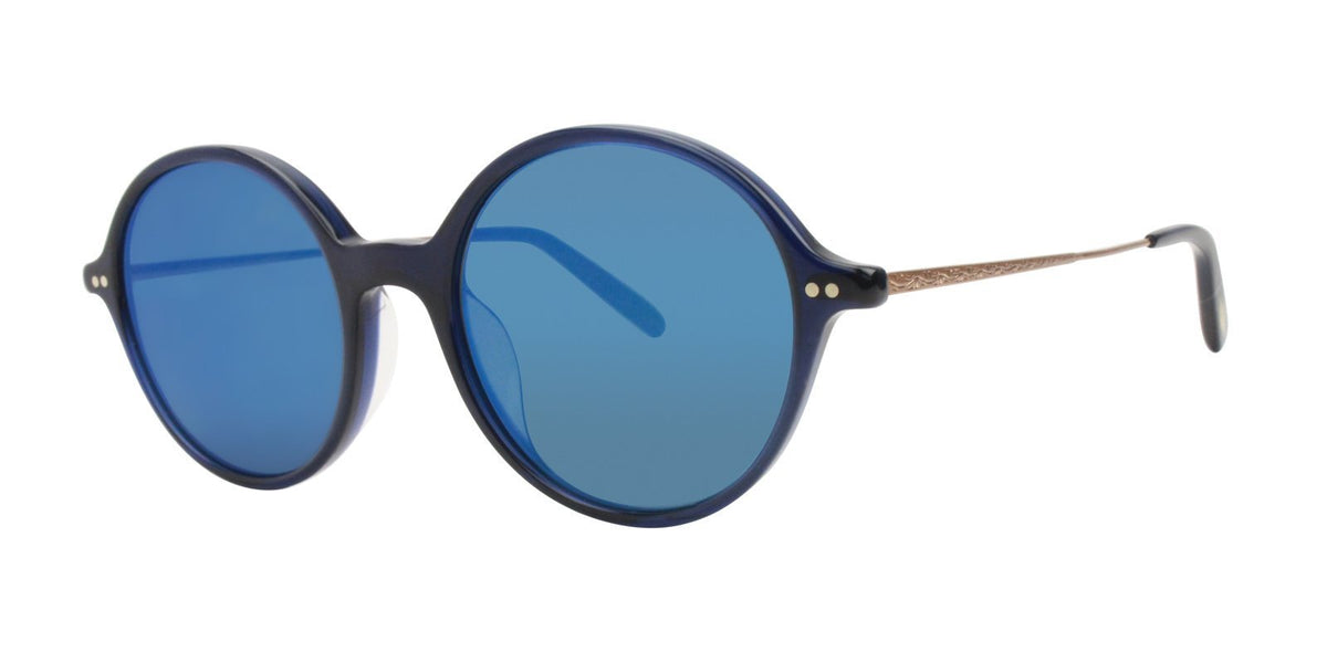 Oliver Peoples - Corby Blue Oval Unisex Sunglasses - 51mm-Sunglasses-Designer Eyes