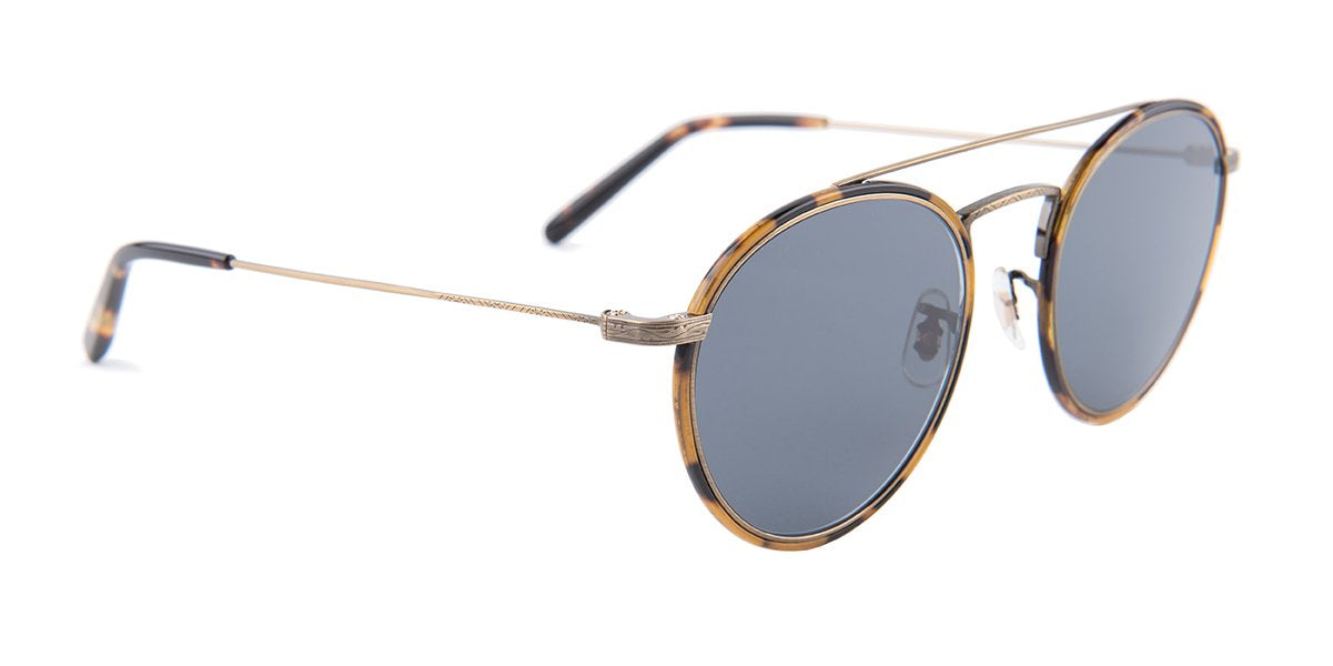 Oliver Peoples - Ellice Tortoise Oval Unisex Sunglasses - 50mm-Sunglasses-Designer Eyes