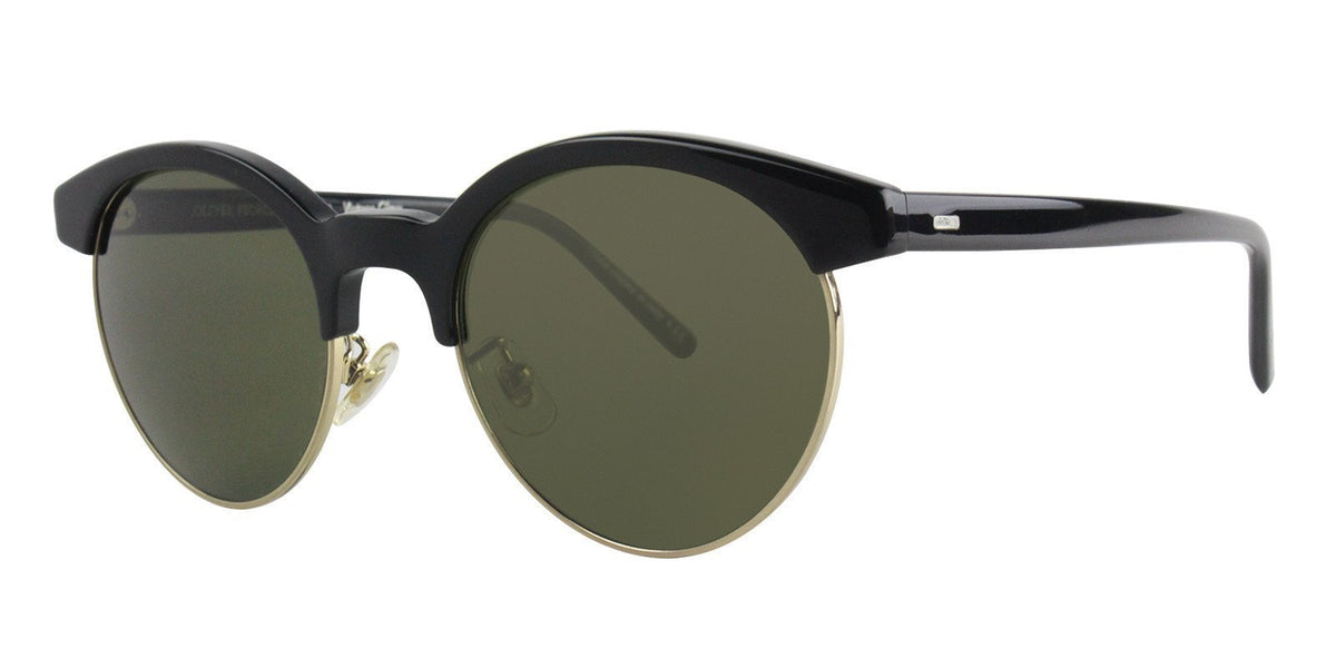 Oliver Peoples - Ezelle Black Oval Women Sunglasses - 51mm-Sunglasses-Designer Eyes