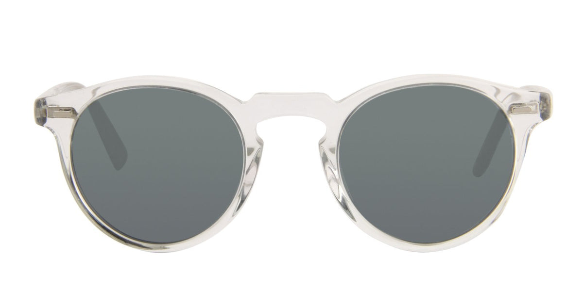 Oliver Peoples - Gregory Clear Oval Unisex Sunglasses - 47mm-Sunglasses-Designer Eyes