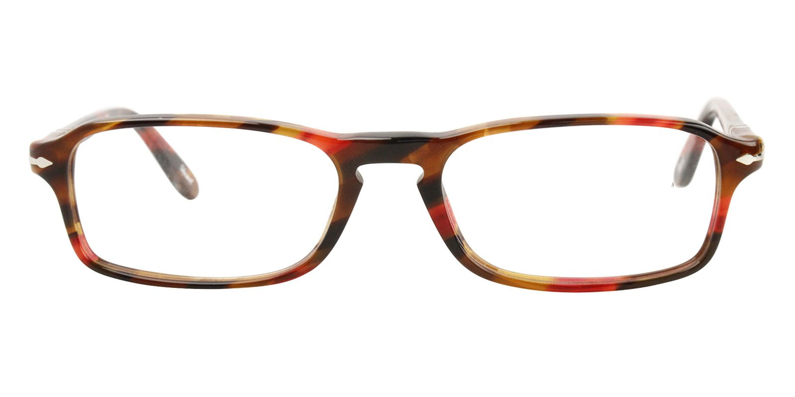 Persol - PO 3035V Red/Orange Rectangular Women Eyeglasses - 51mm-Eyeglasses-Designer Eyes