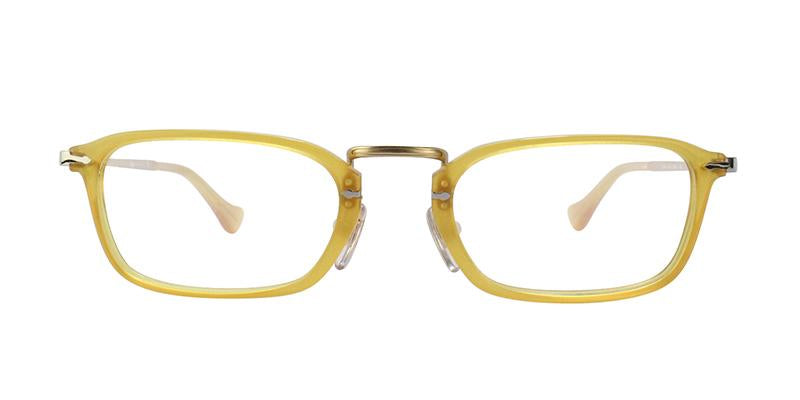 Persol - PO 3044V Yellow Rectangular Unisex Eyeglasses - 50mm-Eyeglasses-Designer Eyes