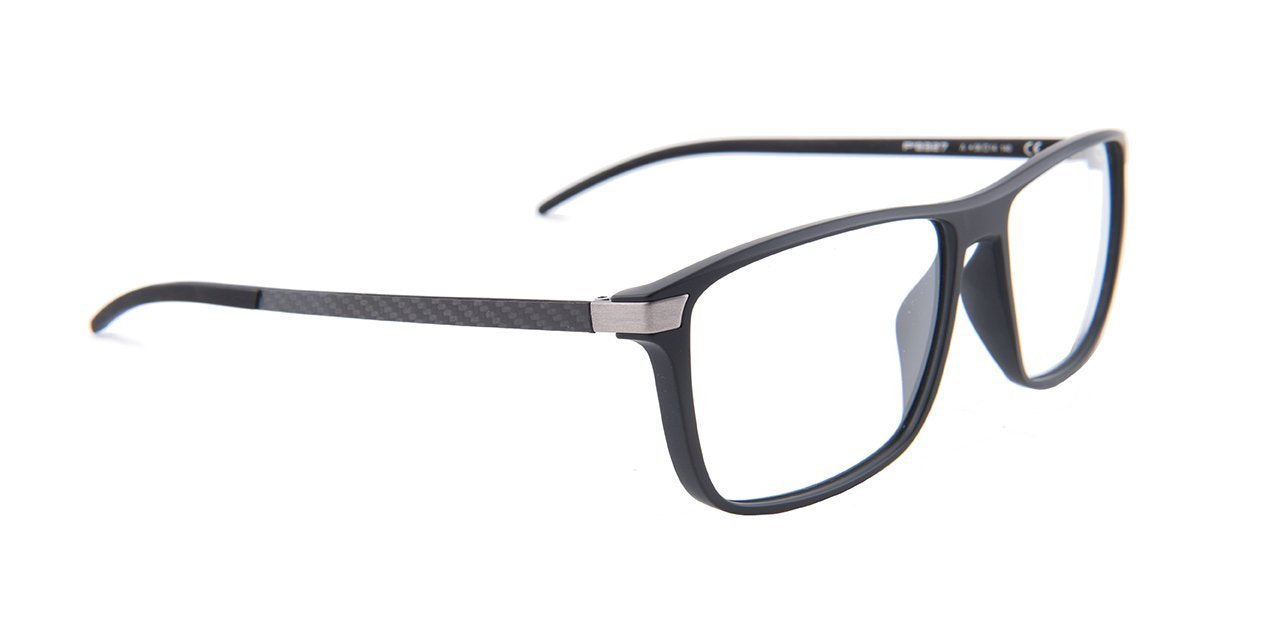 Porsche Design - P8327 Black Rectangular Men Eyeglasses - 56mm-Eyeglasses-Designer Eyes