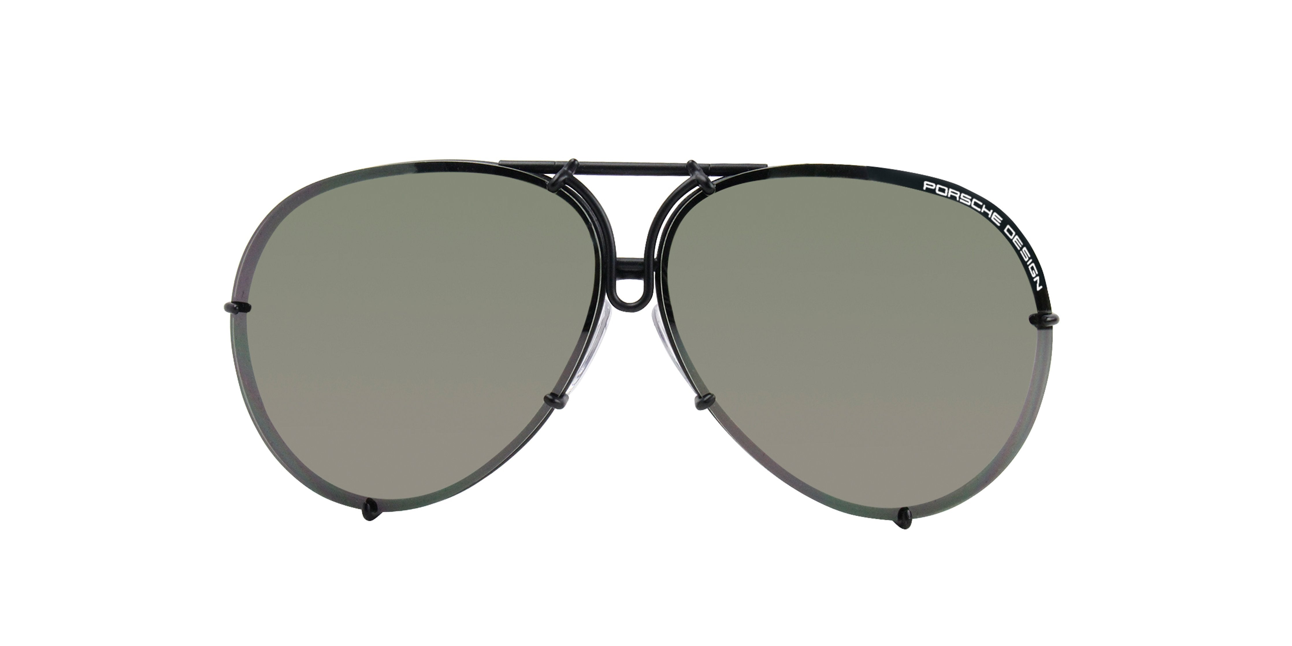 Porsche Design P8478 Black / Green Lens Sunglasses-Sunglasses-Designer Eyes