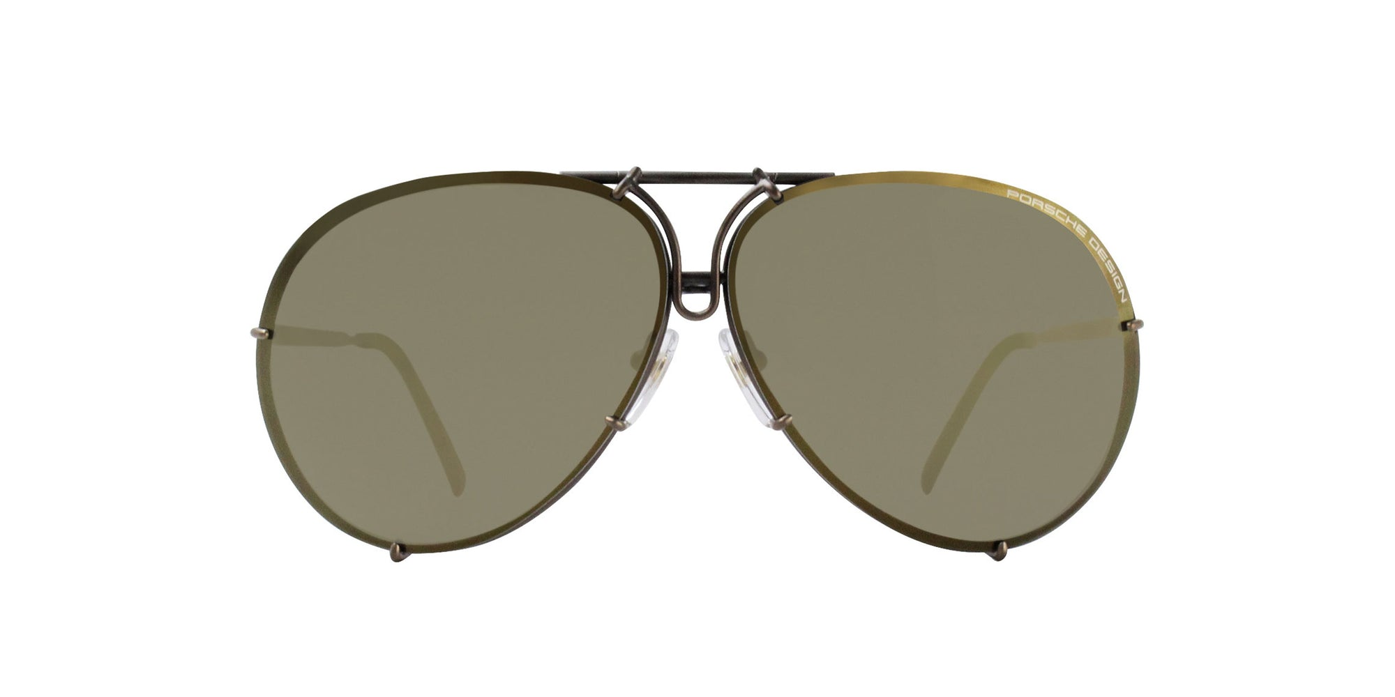 Porsche Design - P8478 Bronze Aviator Men Sunglasses - 69mm-Sunglasses-Designer Eyes