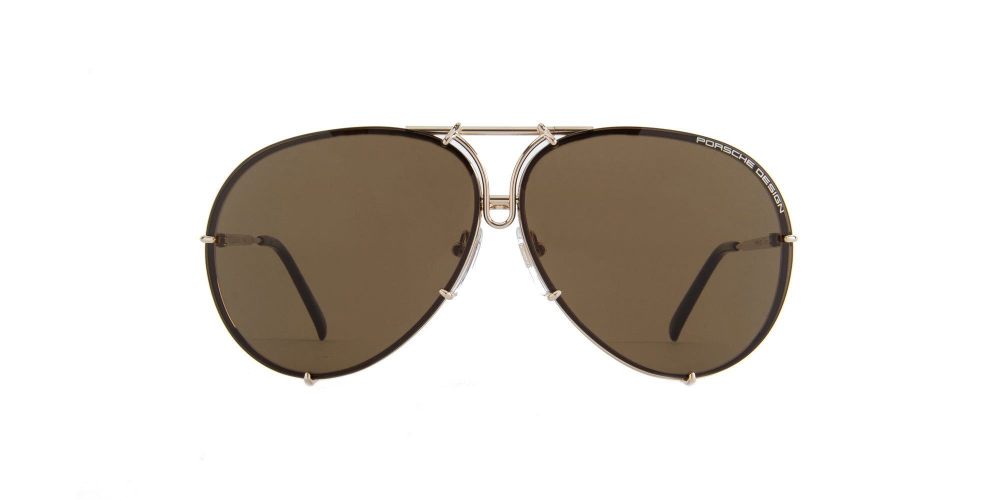 Porsche Design - P8478 Gold Aviator Men Sunglasses - 135mm-Sunglasses-Designer Eyes