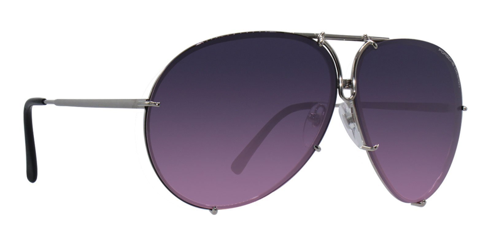 Porsche Design - P8478 Silver Aviator Men Sunglasses - 69mm-Sunglasses-Designer Eyes