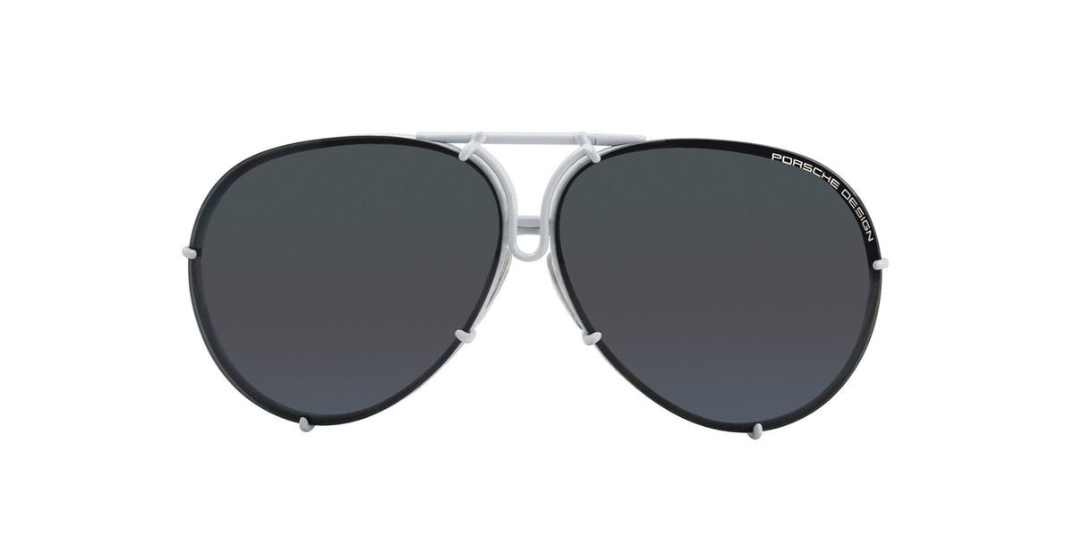 Porsche Design - P8478 White Aviator Men Sunglasses - 66mm-Sunglasses-Designer Eyes