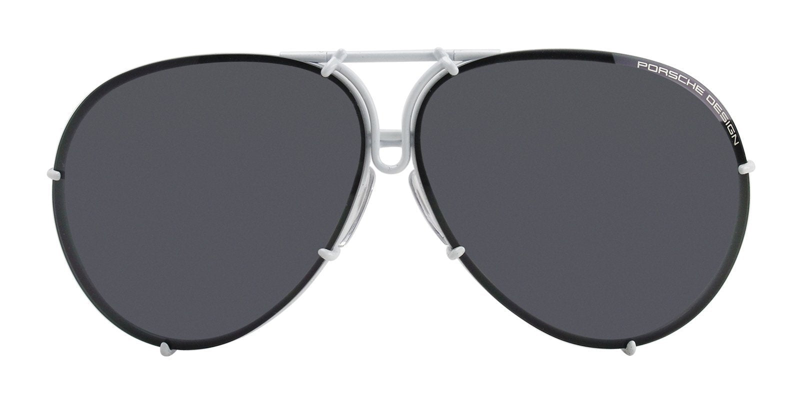 Porsche Design P8478 White / Black Lens Sunglasses-Sunglasses-Designer Eyes
