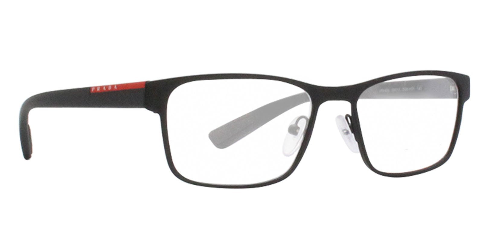 Prada Sport - VPS50G Black Rectangular Men Eyeglasses - 53mm-Eyeglasses-Designer Eyes