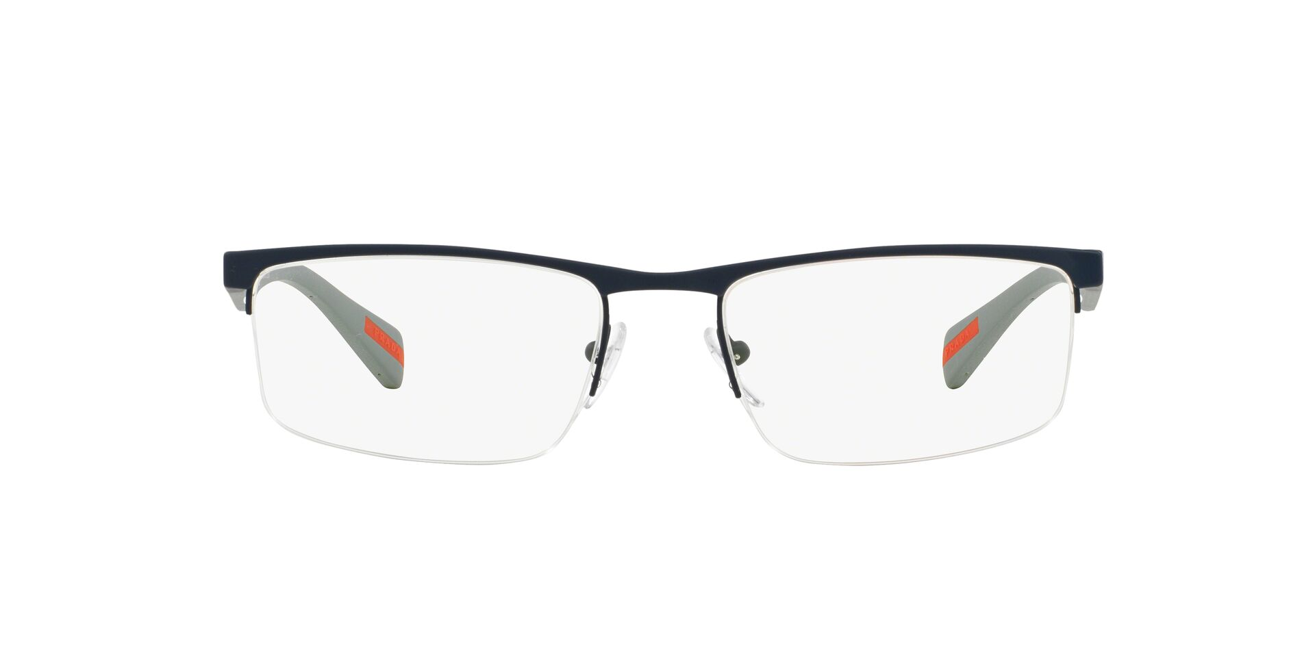 Prada Sport - VPS52F Blue Semi-Rimless Men Eyeglasses - 54mm-Eyeglasses-Designer Eyes