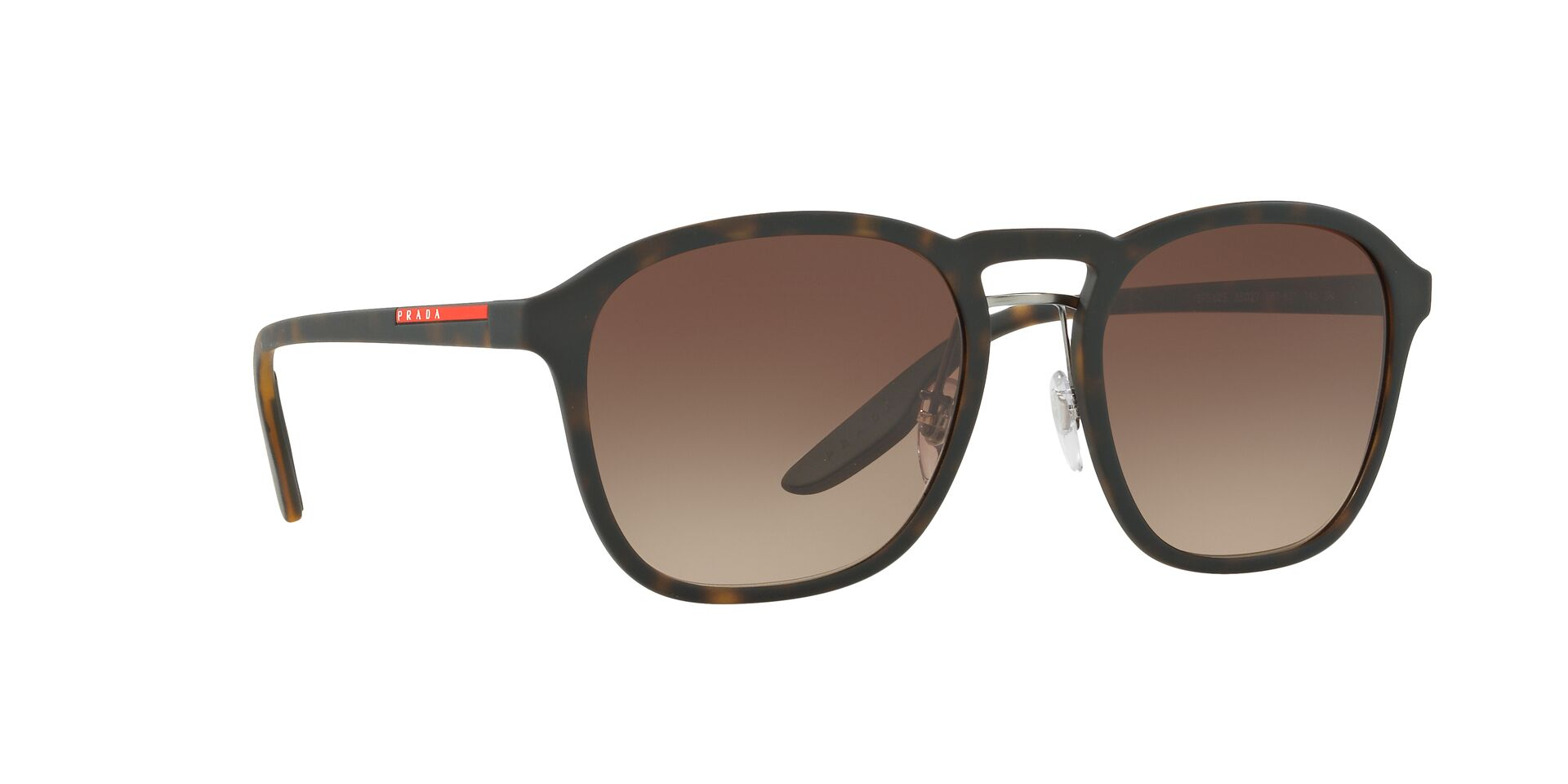 Prada Sport - PS02SS Tortoise Oval Unisex Sunglasses - 55mm-Sunglasses-Designer Eyes
