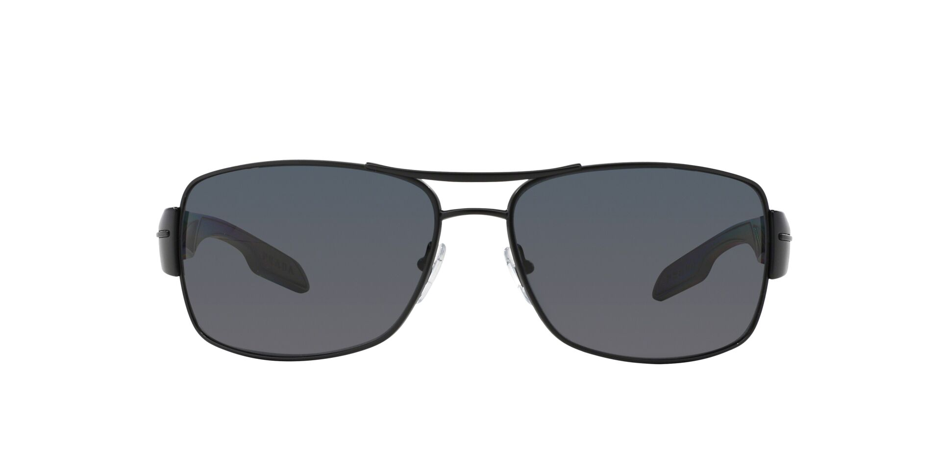 Prada Sport - PS53NS Black Aviator Men Sunglasses - 65mm-Sunglasses-Designer Eyes