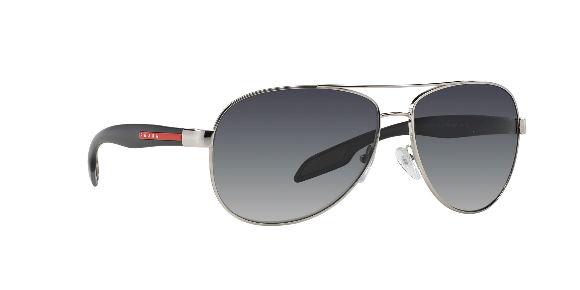 Prada Sport - PS53PS Silver Aviator Men Sunglasses - 62mm-Sunglasses-Designer Eyes